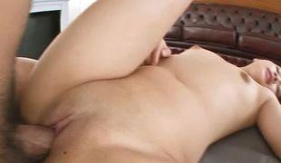 Perfect POV porn show with dark brown Hikaru Momose