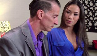 Charged up stud bangs his girl doggy and cums in her mouth in pov