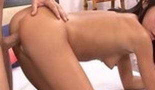 Fabulous pornstar Jessica Valentino in horny blowjob, brunette porn scene