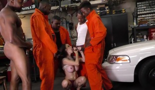 Cuckold cop watching black guys fucking his wife McKenzie Lee