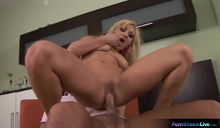Lea Lexis kitchen sex and cum swallowing