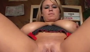 Boobalicious saucy hoe Brandy Talore bounced on thick cock in face to face and reverse styles